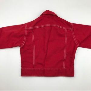 Levi's Jackets & Coats - Vintage LEVI STRAUSS Red Trucker Jacket Size 5